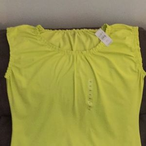 NWT Loft cotton tank with gathered neck and sleeve